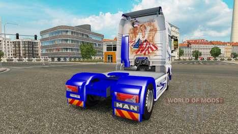 Скин American Dream на тягач MAN для Euro Truck Simulator 2