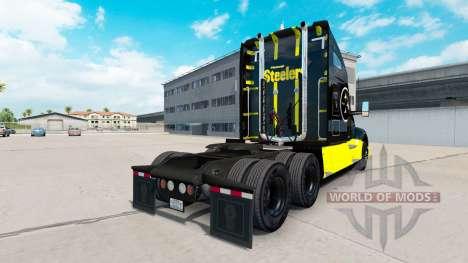 Скин Pittsburgh Steelers на тягач Kenworth для American Truck Simulator