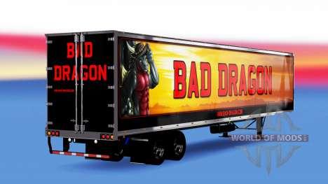 Цельнометаллический полуприцеп Bad Dragon для American Truck Simulator