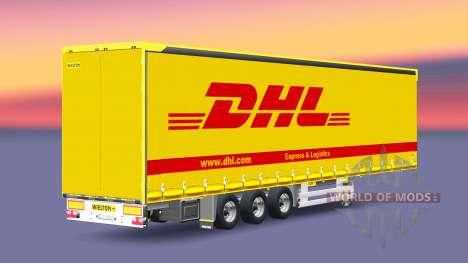 Полуприцеп Wielton DHL для Euro Truck Simulator 2