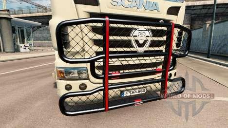 Кенгурятник V8 на тягач Scania для Euro Truck Simulator 2