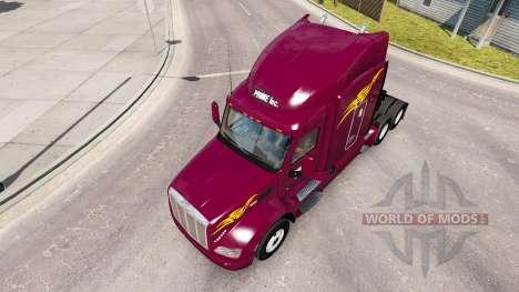 Скин Prime Inc. на тягач Peterbilt для American Truck Simulator