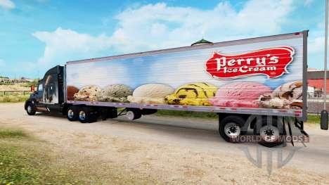 Скин Perrys Ice Cream на полуприцеп-рефрижератор для American Truck Simulator