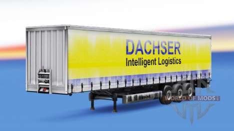 Скин Dachser v1.1 на полуприцеп для Euro Truck Simulator 2