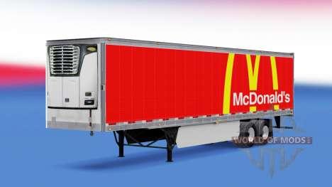 Скин McDonalds на полуприцеп для American Truck Simulator