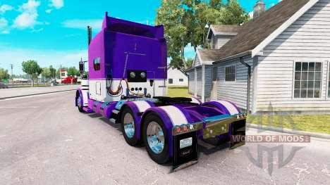 Скин Mauve and White на тягач Peterbilt 389 для American Truck Simulator