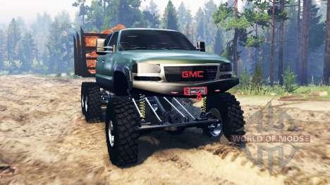 GMC Sierra 3500 2001 6x6 для Spin Tires