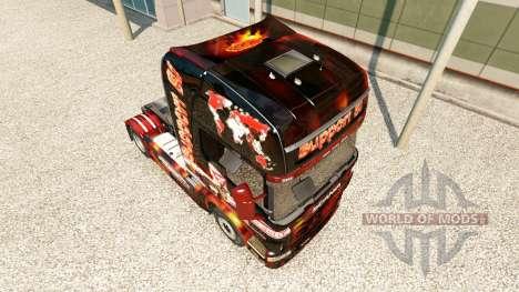 Скин Support 81 на тягач Scania для Euro Truck Simulator 2