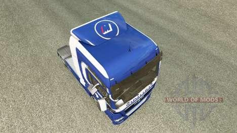 Скин Mainfreight на тягач MAN для Euro Truck Simulator 2