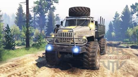Урал-43206 [ураган] v2.0 для Spin Tires