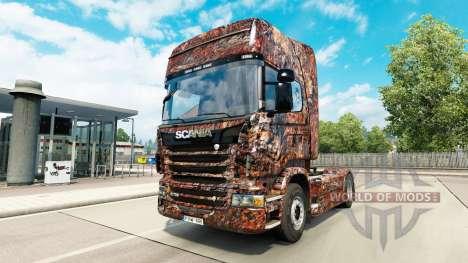 Скин Ferrugem на тягач Scania для Euro Truck Simulator 2