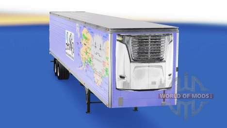 Скин Alaska на полуприцеп-рефрижератор для American Truck Simulator