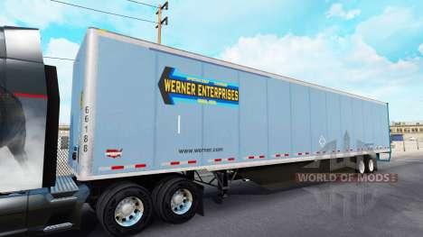 Цельнометаллический полуприцеп для American Truck Simulator