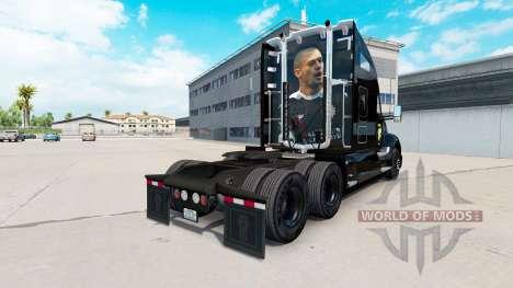Скин Port Vale black на тягач Kenworth для American Truck Simulator