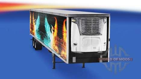 Скин CS Logistics 01 на полуприцеп-рефрижератор для American Truck Simulator