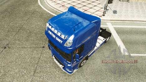 Скин Pieter Smit на тягач DAF XF 105.510 для Euro Truck Simulator 2