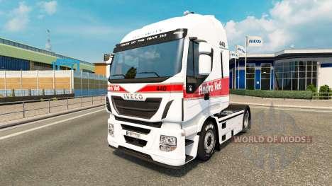 Скин Andre Voss на тягач Iveco для Euro Truck Simulator 2