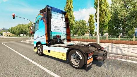 Скин Nature на тягач Volvo для Euro Truck Simulator 2