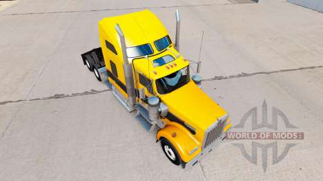 Скин Gold Black на тягач Kenworth W900 для American Truck Simulator