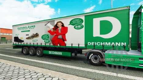 Скин Deichmann на полуприцепы для Euro Truck Simulator 2
