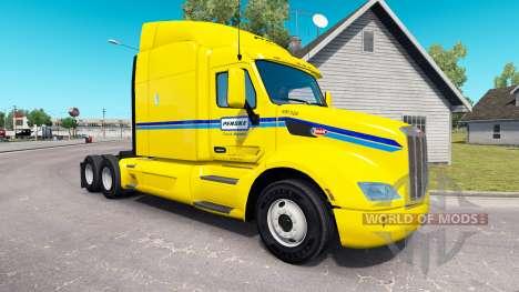 Скин Penske на тягач Peterbilt для American Truck Simulator