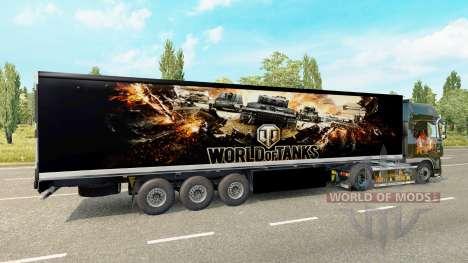 Скин World of Tanks на полуприцеп для Euro Truck Simulator 2