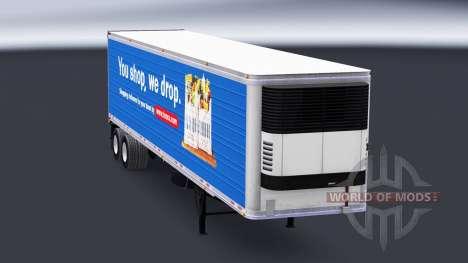 Скин Tesco на полуприцеп-рефрижератор для American Truck Simulator