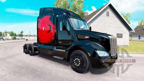 Скин Turkish Power на тягач Peterbilt для American Truck Simulator