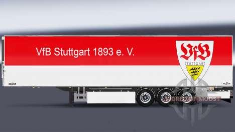 Полуприцеп Chereau VfB Stuttgart для Euro Truck Simulator 2
