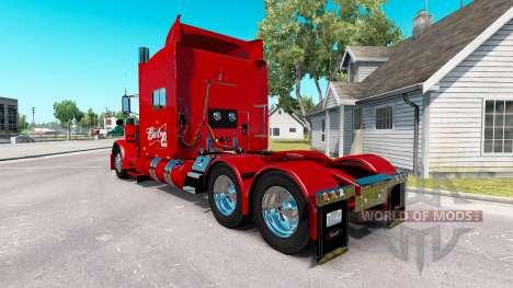 Скин Budweiser 29 на тягач Peterbilt 389 для American Truck Simulator