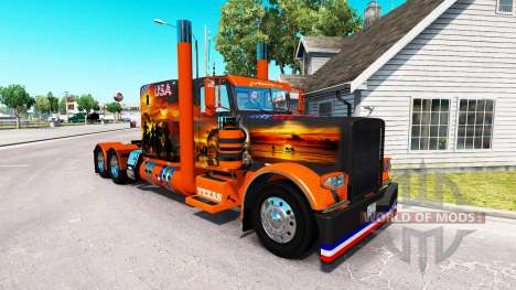 Скин USA Texas на тягач Peterbilt 389 для American Truck Simulator