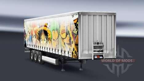 Скин One Piece на полуприцеп для Euro Truck Simulator 2