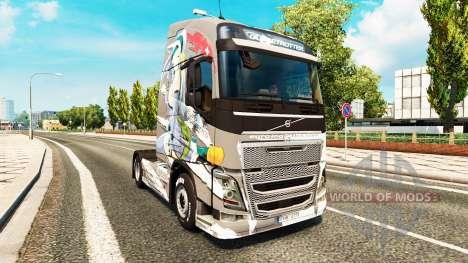 Скин Euro Logistics на тягач Volvo для Euro Truck Simulator 2