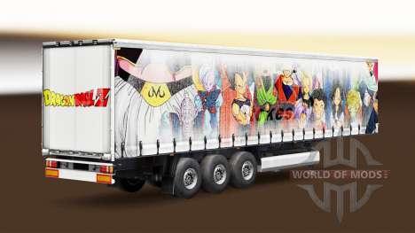 Скин Dragon Ball на полуприцеп для Euro Truck Simulator 2