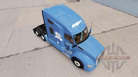 Скин Swift & Diamond Driver на тягач Kenworth для American Truck Simulator