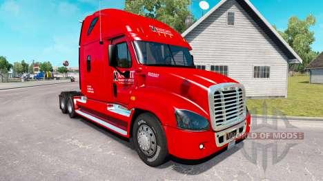 Скин Knight на тягач Freightliner Cascadia для American Truck Simulator
