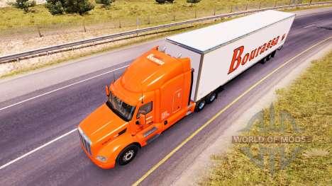 Скин Bourassa на тягач Peterbilt для American Truck Simulator