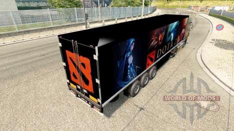 Скин Dota 2 на полуприцеп для Euro Truck Simulator 2