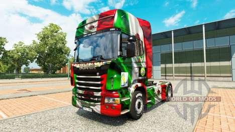Скин Mexico Copa 2014 на тягач Scania для Euro Truck Simulator 2
