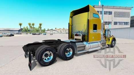 Скин Carbon Custom на тягач Kenworth W900 для American Truck Simulator