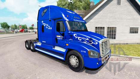 Скин Prime Inc. на тягач Freightliner Cascadia для American Truck Simulator
