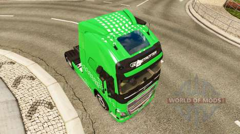 Скин Green Arrow на тягач Volvo для Euro Truck Simulator 2