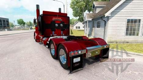 Скин Deadpool на тягач Peterbilt 389 для American Truck Simulator