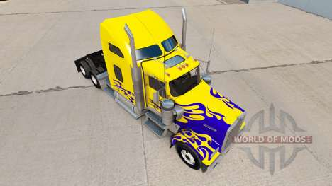 Скин Nevada Custom на тягач Kenworth W900 для American Truck Simulator