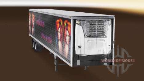 Скин United Colours на полуприцеп-рефрижератор для American Truck Simulator