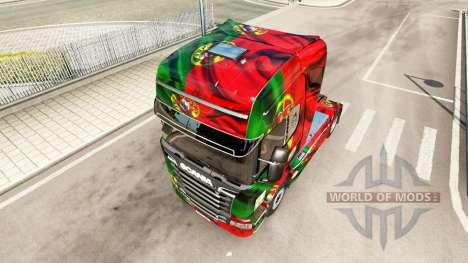 Скин Portugal Copa 2014 на Scania Streamline для Euro Truck Simulator 2