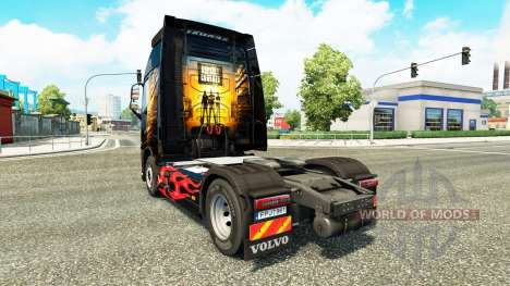 Скин Asphalt Cowboys на тягач Volvo для Euro Truck Simulator 2