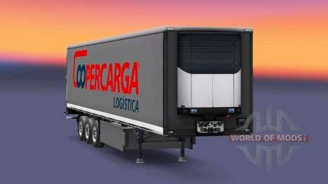 Скин Coopercarga Logistic на полуприцепы для Euro Truck Simulator 2