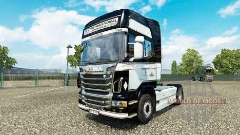 Скин JKT International на тягач Scania для Euro Truck Simulator 2