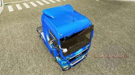 Скин Ocean на тягач MAN для Euro Truck Simulator 2